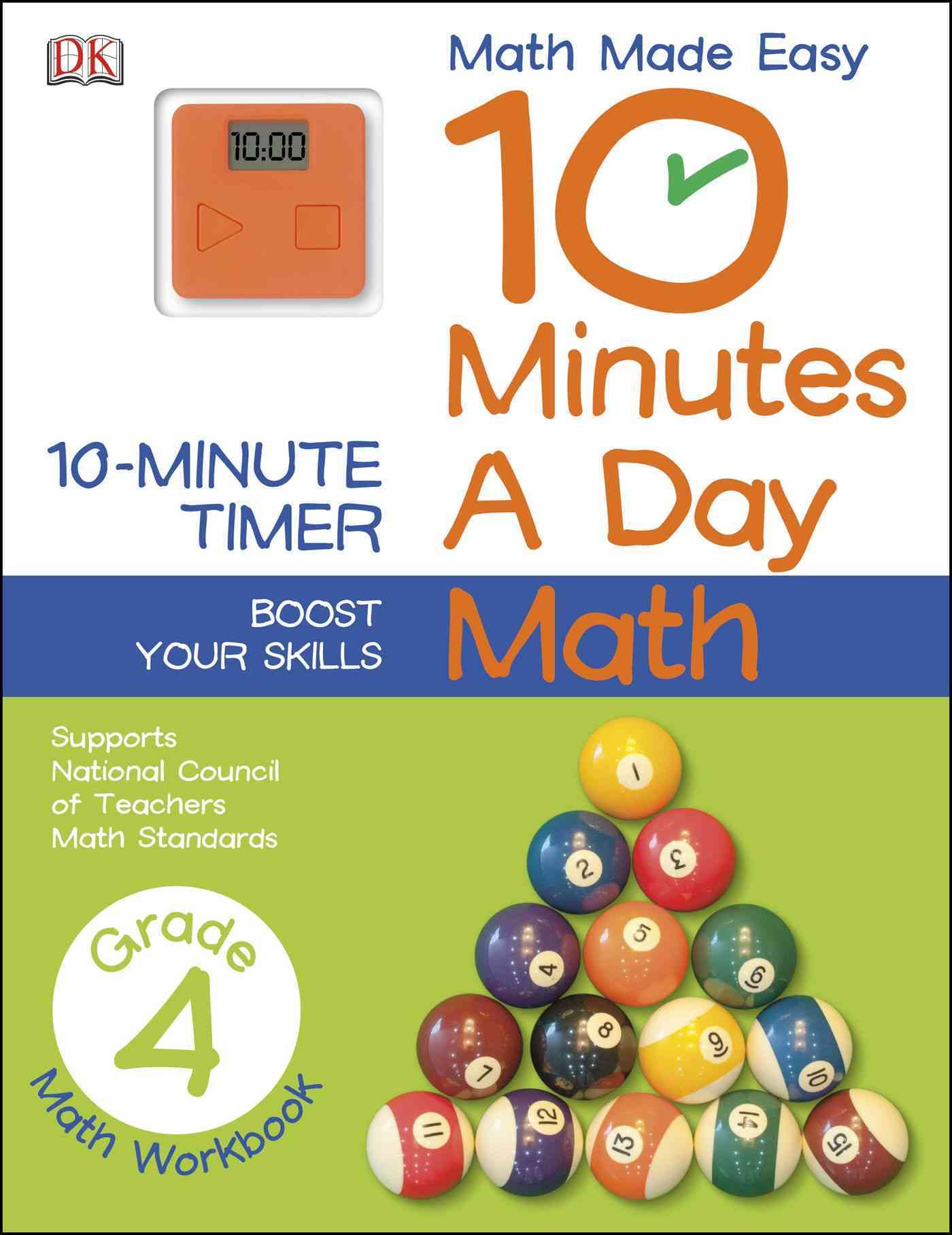 10 Minutes a Day: Math Grade 4 By Dorling Kindersley, Inc. (COR)